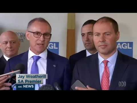South Australia's Premier shirtfronts Federal Energy Minister on live TV