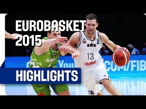 Latvia v Slovenia - Round of 16 - Game Highlights - EuroBasket 2015