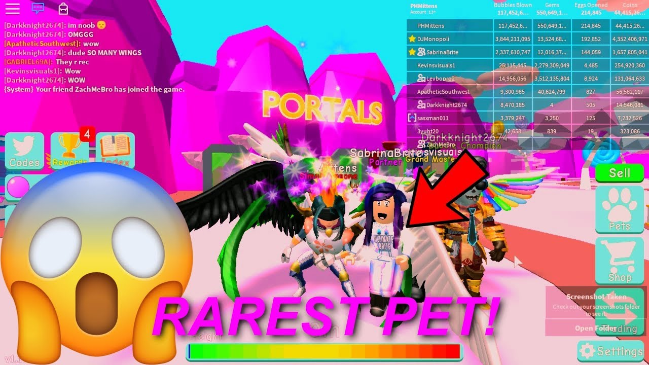 GIVING SABRINA BRITE & DJ MONOPOLI! RAREST PET IN BUBBLE GUM SIMULATOR NEW UPDATE 11!