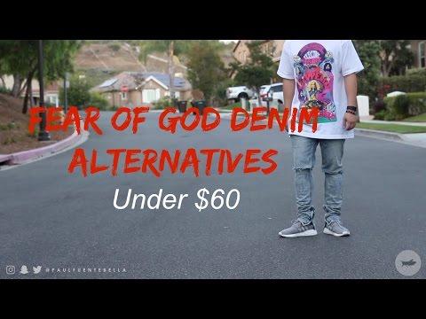 Zipper Denim Jeans: Fear of God FOG Alternatives Pacsun, Hyper denim, and H&M