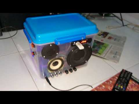 KEREN!!! DIY MP5 player boombox with karaoke