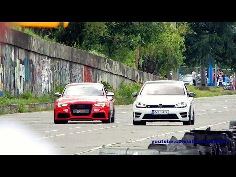 VW Golf 7 R vs Audi S5 REVO drag race