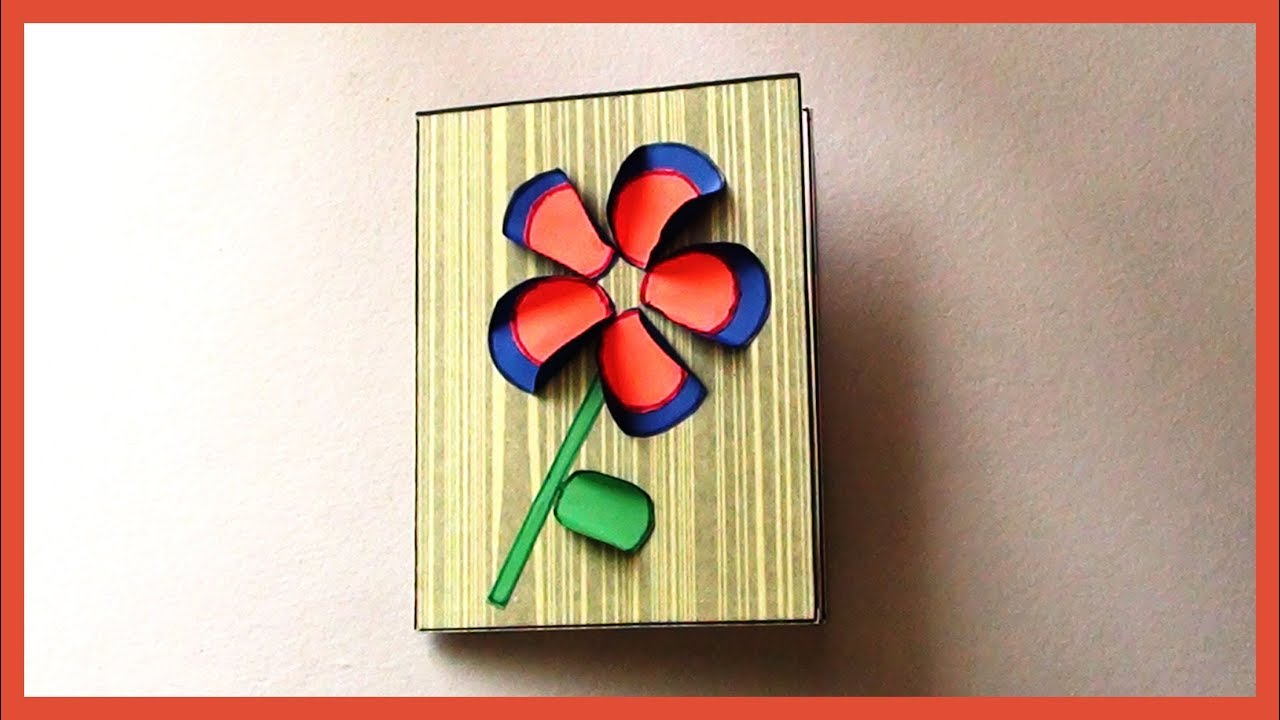 Easy Simple Greeting Paper Card For Kids Kids Paper Crafts