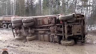 Мастерство и безбашенность водителей тяжелой техники на севере России #6 great roads North of Russia