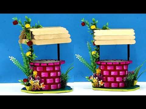 ⚡DIY ✨Magical Wishing Well💫 using Waste Cardboard & Icecream Sticks | Best Out of Waste Home Decor