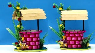 ⚡DIY ✨Magical Wishing Well💫 using Waste Cardboard & Icecream Sticks   Best Out of Waste Home Decor