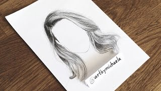 """UPDATED How to Draw """"Realistic"""" Hair 