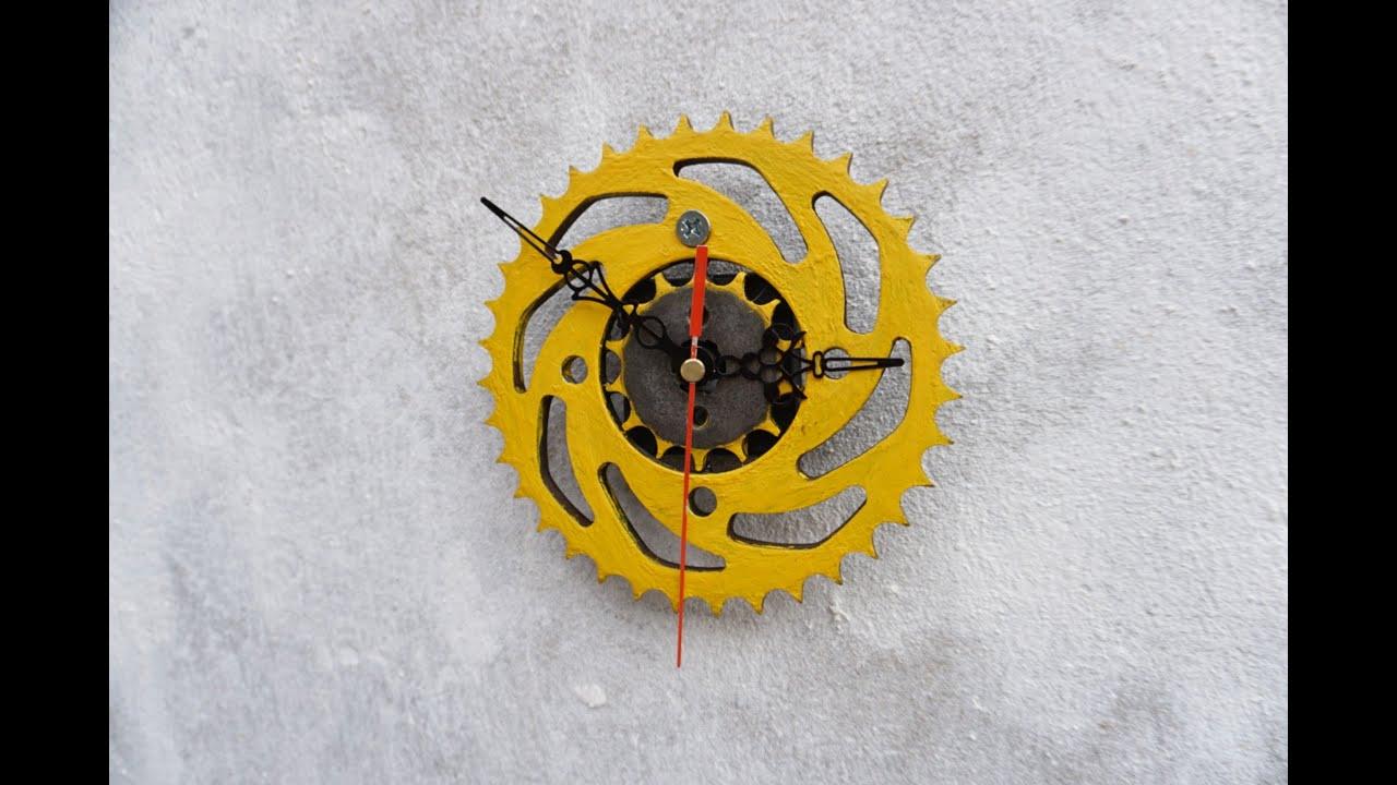Ý tưởng Tái Chế Hay với Nhông đĩa xe máy cũ _Đồng hồ treo tường độc đáo