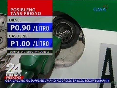 24 Oras: Diesel at gasoline, posibleng may taas-presyo sa darating ng linggo