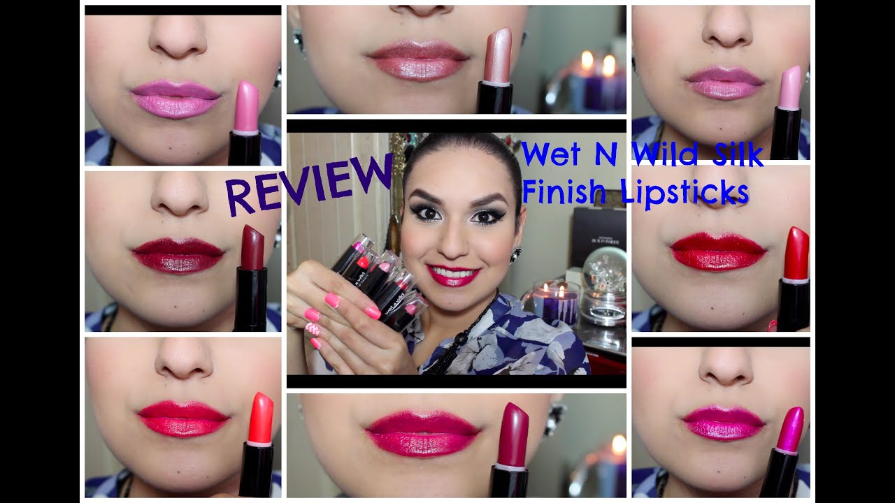 REVIEW + SWATCHES: Wet N Wild Silk Finish Lipsticks♡ - YouTube