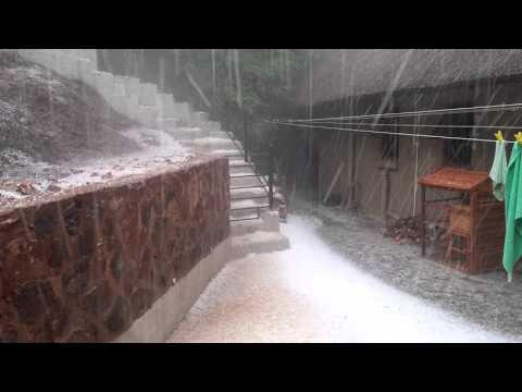 Johannesburg hail storm at house