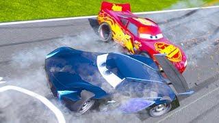 STOCK CARS vs NEXT GEN CARS 3 DRAG RACE - Lightning Mcqueen Jackson Storm Cruz Ramirez