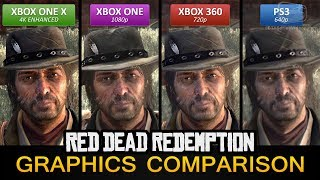 Red Dead Redemption 4K Graphics Comparison - Xbox One X 4K