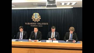 Valitsuse pressikonverents, 14. november 2019