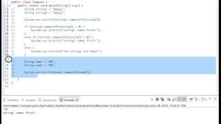 compareTo() method (Java)