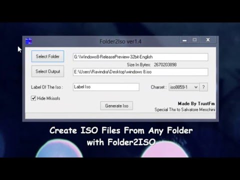 Create ISO Files From Any Folder with Folder2ISO [How to] - YouTube