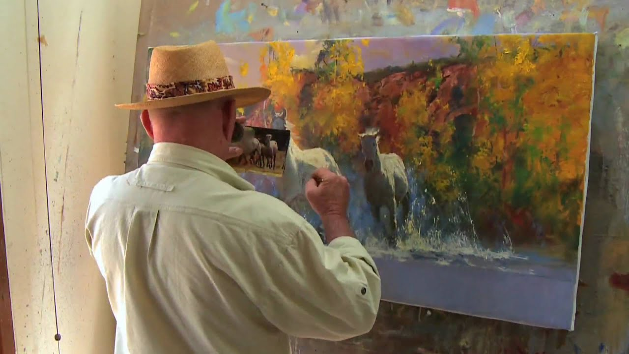 Fall Run Western Speed Painting By Robert Hagan Youtube