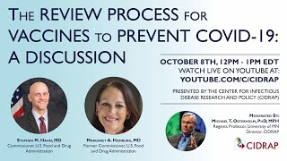 Join the center for infectious disease research and policy (cidrap) as we host a discussion regarding review process vaccines to prevent covid-19. ci...