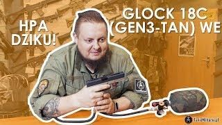 GLOCK 18C (WE-G18-GEN3-TAN) WE HPA - TANIEMILITARIA.PL