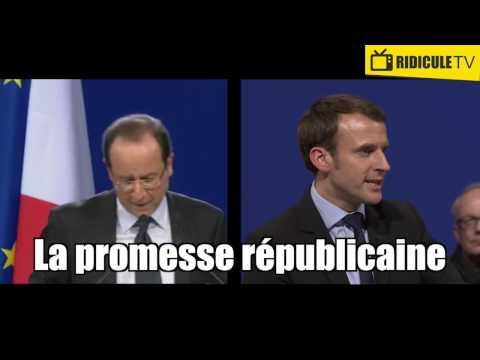 Quand Emmanuel Macron plagie mot pour mot François Hollande ...