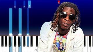 Young Thug ft Gunna, Travis Scott - Hot (Piano Tutorial)