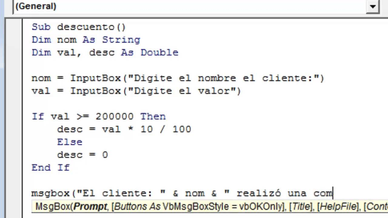 Using a Variable in a VBA Message Box