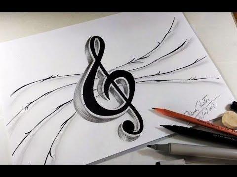 Como Desenhar Nota Musical Clave De Sol Passo A Passo Youtube