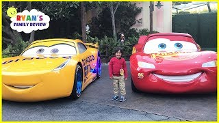DisneyLand Amusement Ride and Giant Lightning McQueen! thumbnail