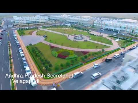 Aerial shots  - AP Secretariat at Velagapudi