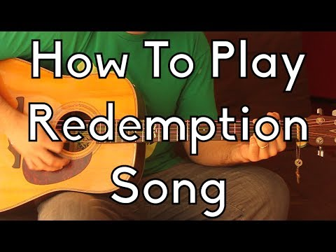 How To Play Redemption Song -Bob Marley w/tabs and play alongs - Easy Acoustic Guitar  Lesson