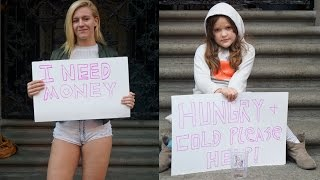 vuclip HOT GIRL vs HOMELESS CHILD! (Social Experiment)