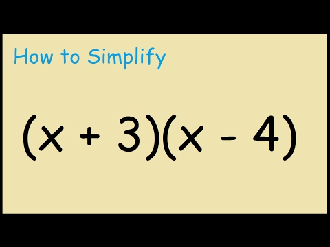 How to expand (x+3)(x-4) binomials