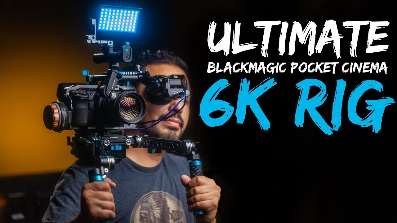My Ultimate Blackmagic Bmpcc 6k Cinema Camera Shoulder Rig Youtube