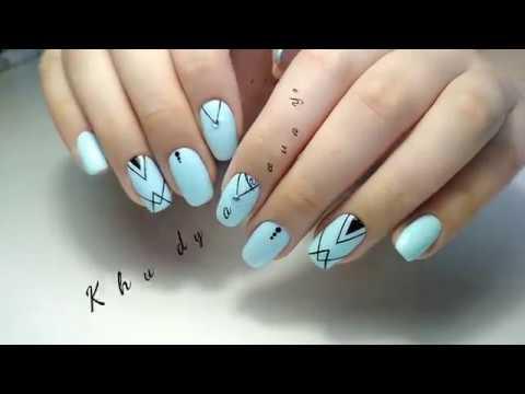 Как рисовать геометрические фигуры на ногтях