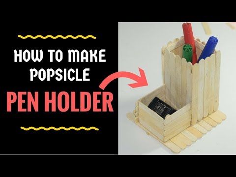 DIY Ice Cream Stick Pen Holder || How to make pen stand with icecream sticks | Million Dollar Crafts