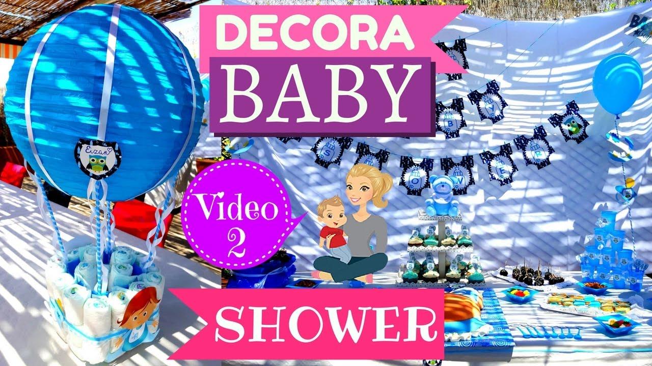 como decorar baby shower centro de mesa para baby shower paso a paso youtube