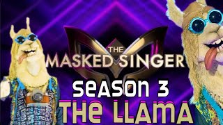 Drew Carey as The Llama - Every Performance & Reveal! - The Masked Singer Season 3