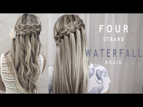 4 Strand Waterfall Braid Hairstyle
