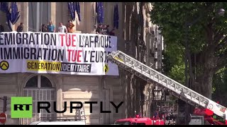 France: Anti-immigration protesters occupy EU Commission office
