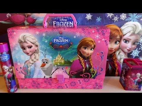Disney Frozen Elsa & Anna Big School Bag Set Unboxing Accessories 겨울왕국 Toys