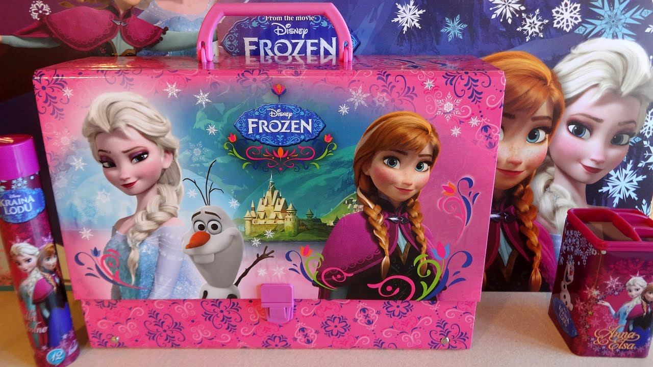 Disney Frozen Elsa   Anna Big School Bag Set Unboxing Accessories 겨울왕국 Toys  - YouTube 319c97894adb7