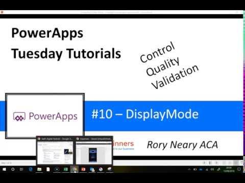 PowerApps Tuesday Tutorials #10 DisplayMode