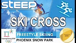 """STEEP (Olympic Games) """"SKI CROSS"""" Freestyle Skiing (Gold) & GoPro-View"""