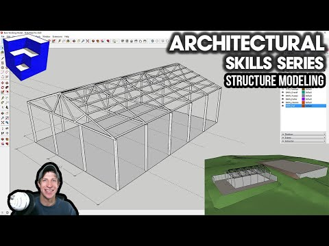 SketchUp Skills For Architecture - STRUCTURE MODELING - Barn Structure