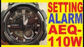 Setting Casio AEQ-110W Alarm mode manual