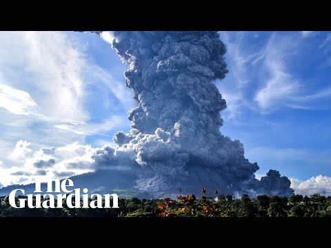 Indonesia's Mount Sinabung spews huge column of ash during latest eruption
