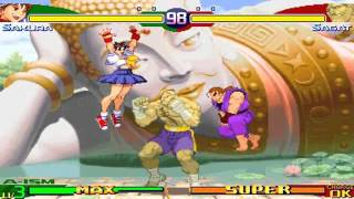 DM02 Street Fighter Alpha 3 ~ Sakura/Dan Playthrough 【TAS】