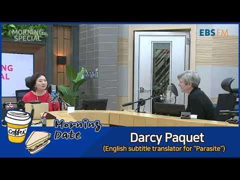 """[모닝데이트] 영화 기생충 영어자막 번역 달시 파켓과의 인터뷰 / Darcy Paquet (English subtitle translator for """"Parasite"""")"""