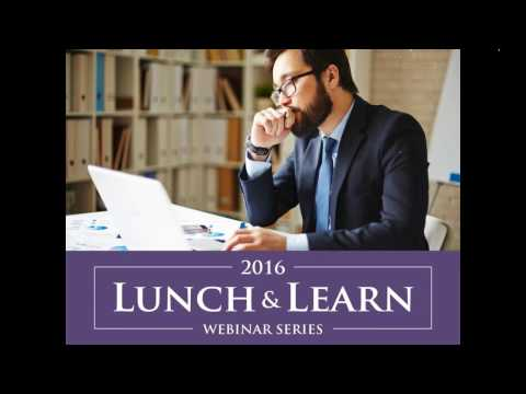 2016 Lunch and Learn Series: Credit Cards What We Need to Know