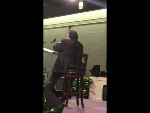 Bishop James Morton preaching!